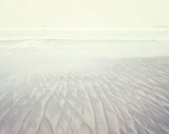 Oregon Beach Photography - Beach Photography - Beach Cottage Decor - Ocean - Fine Art Photograph - Minimalist - Blue White Beach Decor