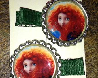 Brave/ Princess Merida Hair Clippie