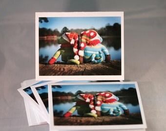 Sock Monkey Love Photography Blank Notecard Set of 5