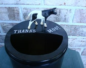 Tip Jar, Tipping is Not Only For Cows. Eye-catching tip jars get more tips.