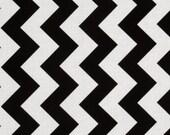 Listing for Jarah- Fabric-Riley Blake Medium Chevron Black and White
