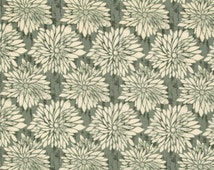 HUGE SALE- 1 Yard Fabric-Dahlia in Green by Ty Pennington Fall Impressions