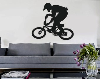 BMX - uBer Decals Wall Decal Vinyl Decor Art Sticker Removable Mural Modern A174
