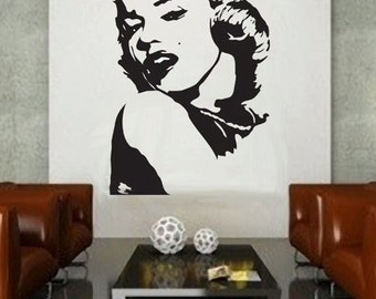 Marilyn Monroe 3   UBer Decals Wall Decal Vinyl Decor Art Sticker Removable  Mural Modern A184 Part 77