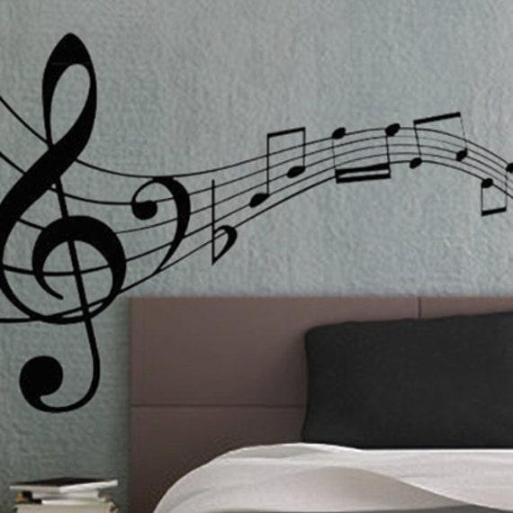 90850d6634 ... Music Notes Wall Murals: Music Notes 3 UBer Decals Wall Decal Vinyl  Decor Art Sticker