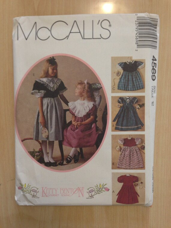 McCalls 80s Sewing Pattern 4569 Kitty Benton Girls Dress Size 12 Sale