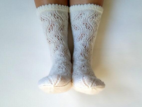 chaussettes de laine blanche chaussettes en laine tricot s. Black Bedroom Furniture Sets. Home Design Ideas