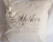 Mothers Day Pillow, Vintage Inspired