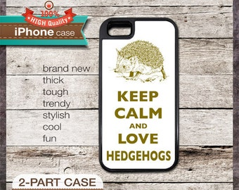 Keep Calm And Love Hedgehogs - iPhone 6, 6+, 5 5S, 5C, 4 4S, Samsung Galaxy S3, S4
