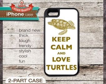 Keep Calm And Love Turtles - iPhone 6, 6+, 5 5S, 5C, 4 4S, Samsung Galaxy S3, S4