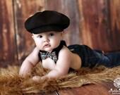 Newsboy hat,  Black newsboy hat,   boy hat, beret for boys, listing for Black Hat only