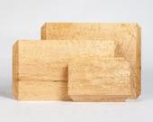 The Edge: Modern Organic Cutting Boards Birdseye Maple (L)