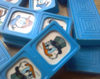 Disney Dominoes Very Vintage Appeal with the older original Disney Characters Collectible Disneyana Mickey Donald Duck Daffy Duck GAME RETRO