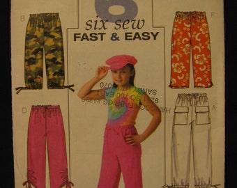 Butterick Girls Pants Capri Pants and Shorts Sewing Pattern B4178 Uncut 12 14 16