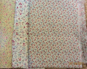 Flowers on Pale Fabric