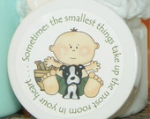 Baby Shower Favors - Personalized Whipped Body Butter (Puppy Love - Boy)