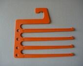 Vintage 1960's Orange Plastic Trousers Hanger