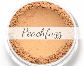 "Eyeshadow Sample - ""Peachfuzz"" - matte light peach/apricot color (Vegan) Mineral Makeup Pigment"