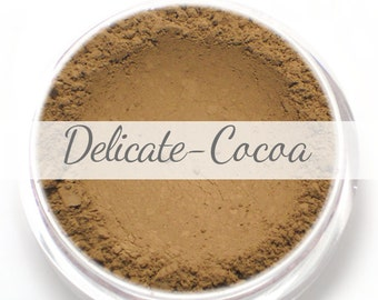 Vegan Mineral Foundation Sample - Delicate Formula COCOA - dark shade with a neutral undertone