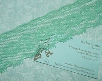 1 yard of 2 inch Seafoam Green Chantilly lace trim for garter, wedding, bridal, lingerie, spring by MarlenesAttic - Item X7