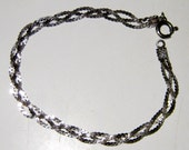 Vintage Italy Sterling Silver Braided Bracelet