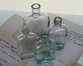 Antique Medical/Perfume Bottles - Apothecary Bottles - 1930's