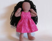 """SALE Pink dress outfit for 7"""" doll"""