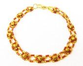 Gold Right Angle Weave Bracelet