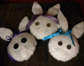 Bunny Head Bowl Filler Ornies Set of 3
