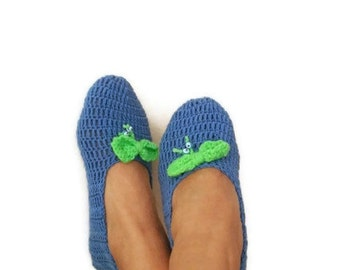 FREE SHIPPING Navy Blue with bow Healthy Booties Home slippers Dance classic yoga sexy hygienic light Naturel Silk cashmire crochet