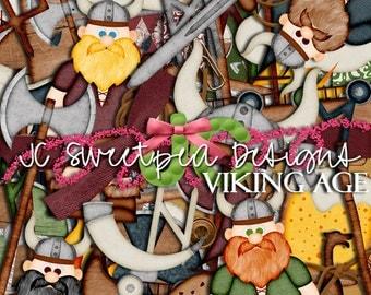 Viking Age Digital Scrapbooking Kit