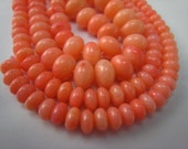pink coral graduated rondell bead 18 inch strand