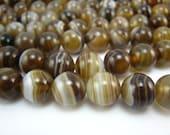 high quality sardonyx round bead 10mm 15 inch strand