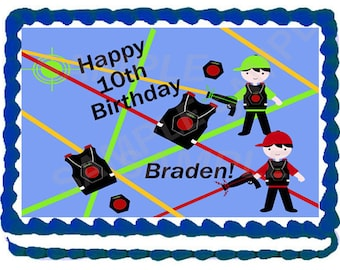 Boy Laser Tag Cake Topper