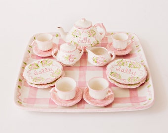 Child's Personalized Tea Set and Tray