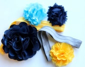"Elastic Baby/Toddler Headband with Interchangeable Flowers ""Cora"""
