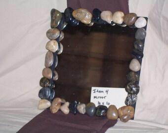 Rock edge mirror/  rustic mirrors/ rustic log furniture/ rustic decor/ wedding decor/ rustic picture frames/ mirrors/