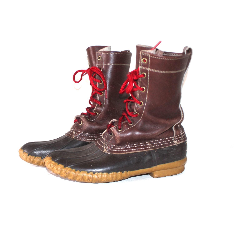 1950s ll bean duck boots womens 10 mens 8 by aardvarkmarket