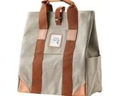 Webbing Two way backpack(Light Khaki)