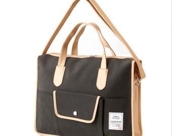 Basic Pocket Messenger & Tote bag (Charcoal Grey)
