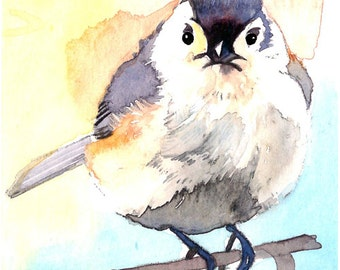 ACEO Limited Edition 2/25 - Titmouse, in watercolor