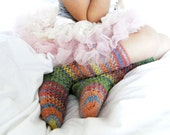 READY-TO-SHIP Kids lacy multiolor long spring socks