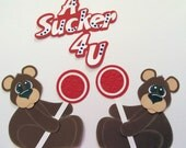 RESERVED FOR KAREN Lollipop bears premade Scrapbook Paper Pieced