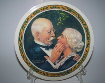 Norman Rockwell Christmas Plate 1976 Golden Christmas