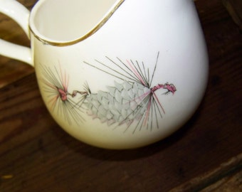 Pinecone Creamer Vintage Lifetime China Creamer Pinecone Pattern