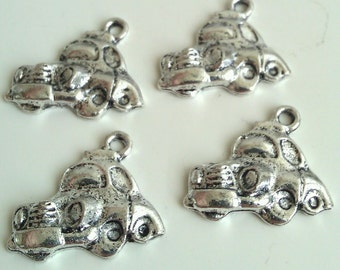 CLEARANCE Jalopy Old Fashion Vintage Car Truck Charm  (12)  Antique Silver Finish Tibetan