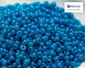 Czech Seed Beads size 9/0 (20g) Opaque Blue Preciosa Ornela Rocailles NR 17 last