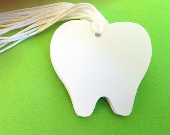 10 tooth tags, tooth fairy tags