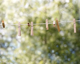 Laundry Room, Laundry Fine Art Photography, Clothespins on a Clothesline, Rustic Country Laundry Room Decor, A Simple Life