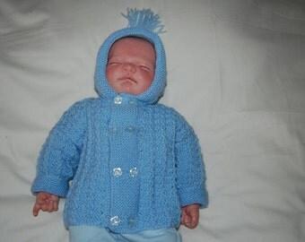 Newborn Baby Hooded Coat